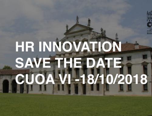 SAVE THE DATE  –  Siamo presenti al HR GAMIFICATION INNOVATION 18/10/2018 CUOA VI